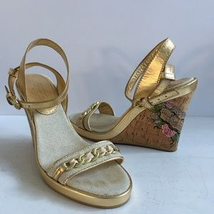 Coach  Cork Wedges with heel tattoo Sandals